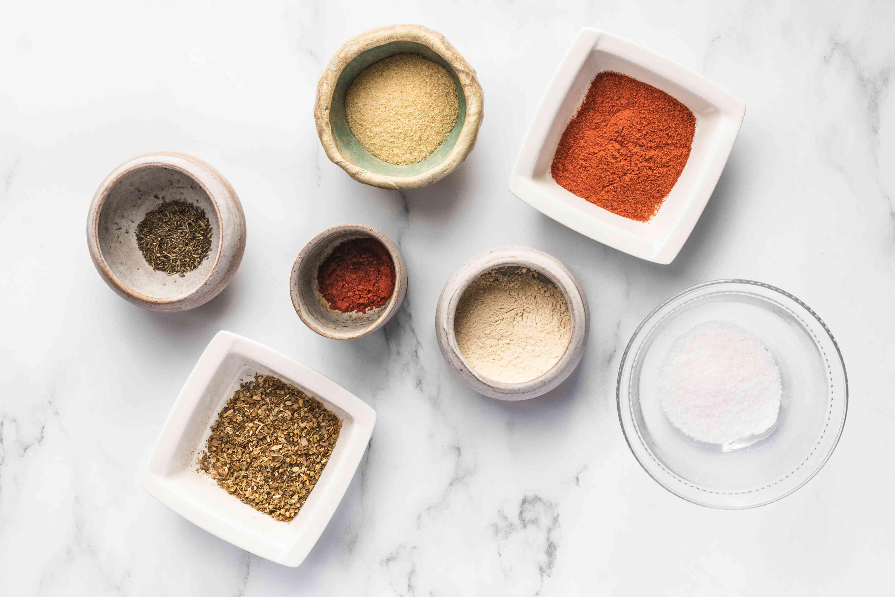Ingredients for cajun turkey seasoning