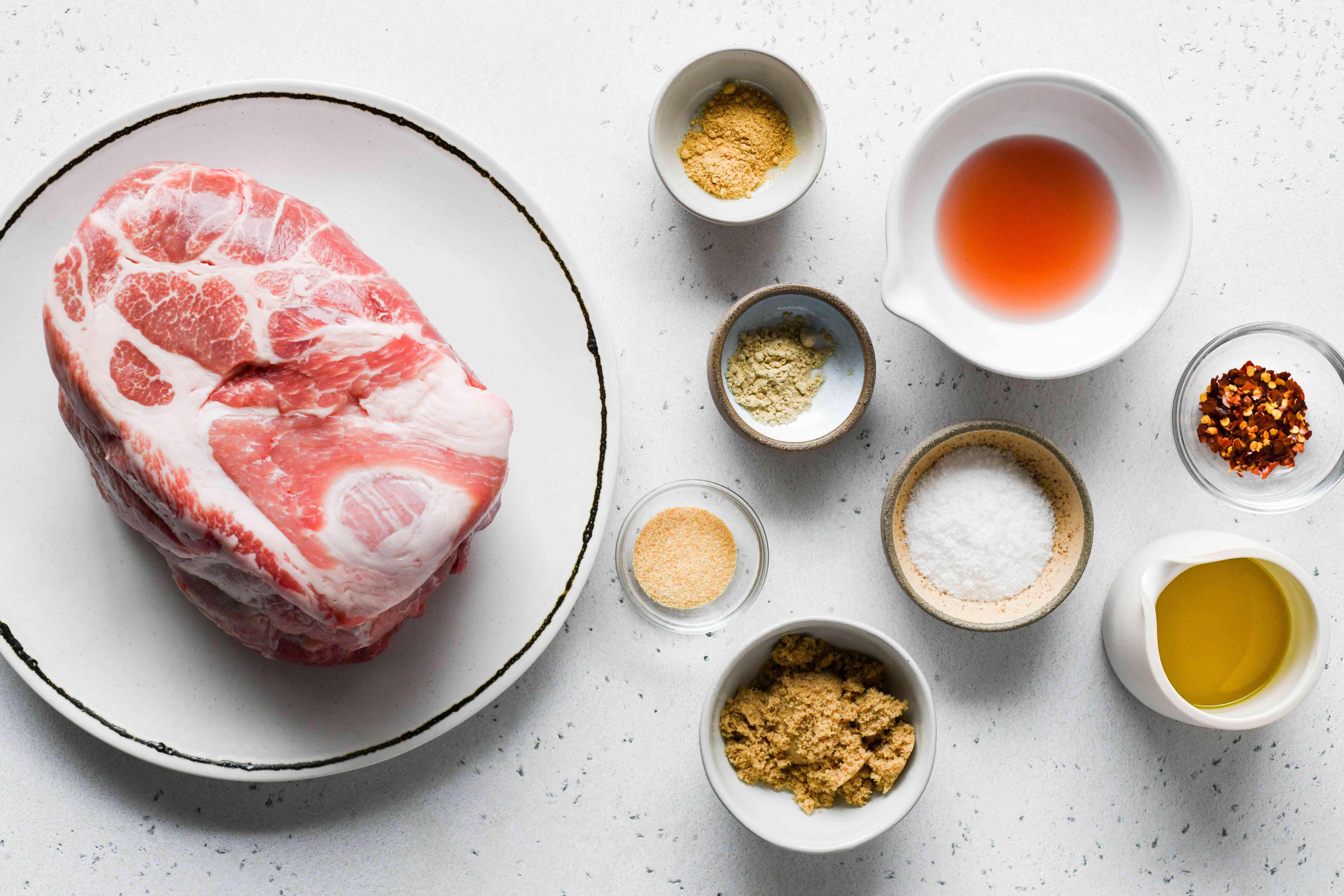 Foolproof Slow-Roasted Pork Shoulder ingredients