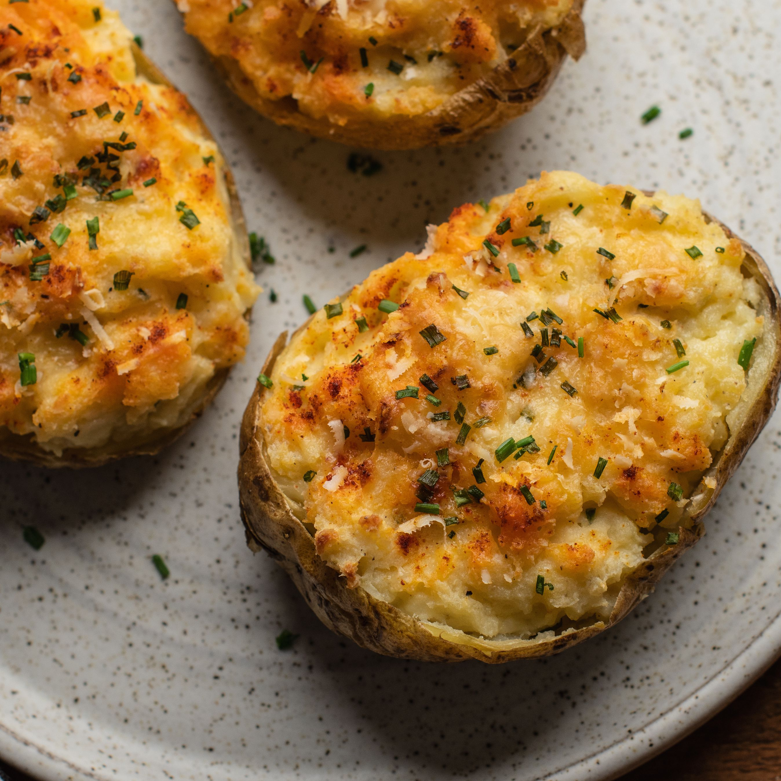 Twice Baked Potatoes With Cream Cheese And Chives Recipe