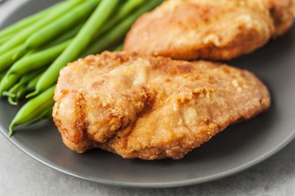 Pechugas de pollo fritas