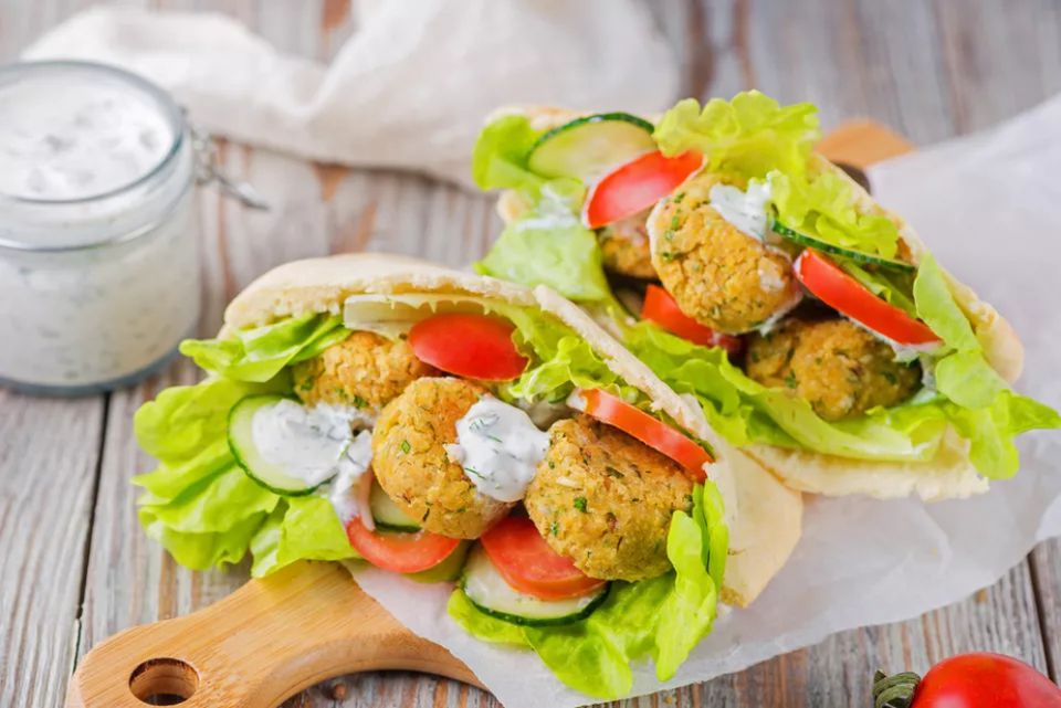 Low-Fat Baked Falafel