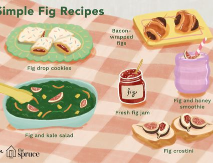 illustration showing simple fig recipes