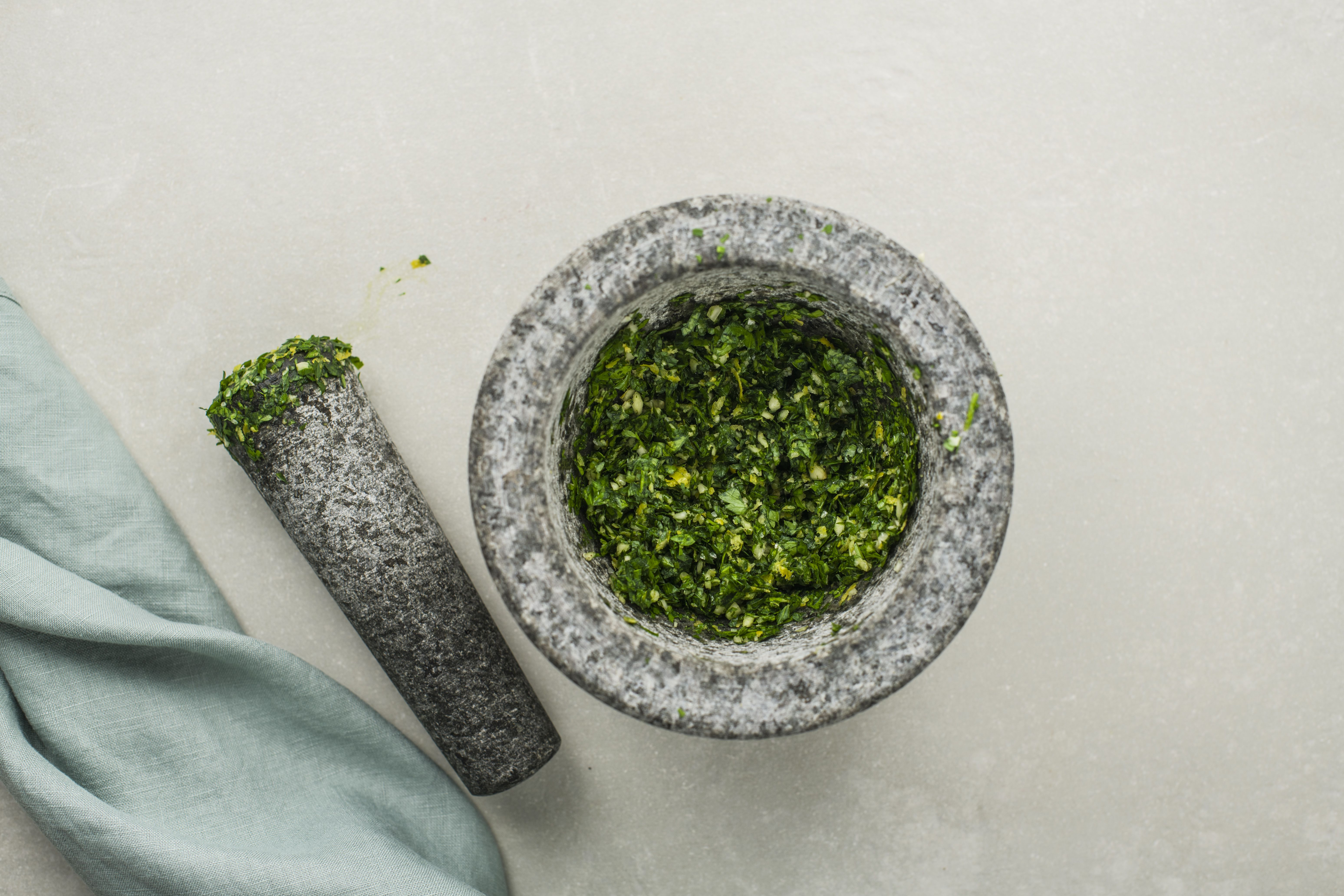 Use mortar and pestle