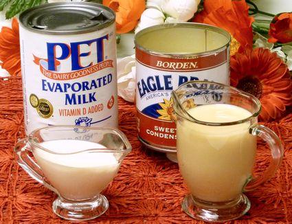 Evaporated milk, sweetened condensed milk