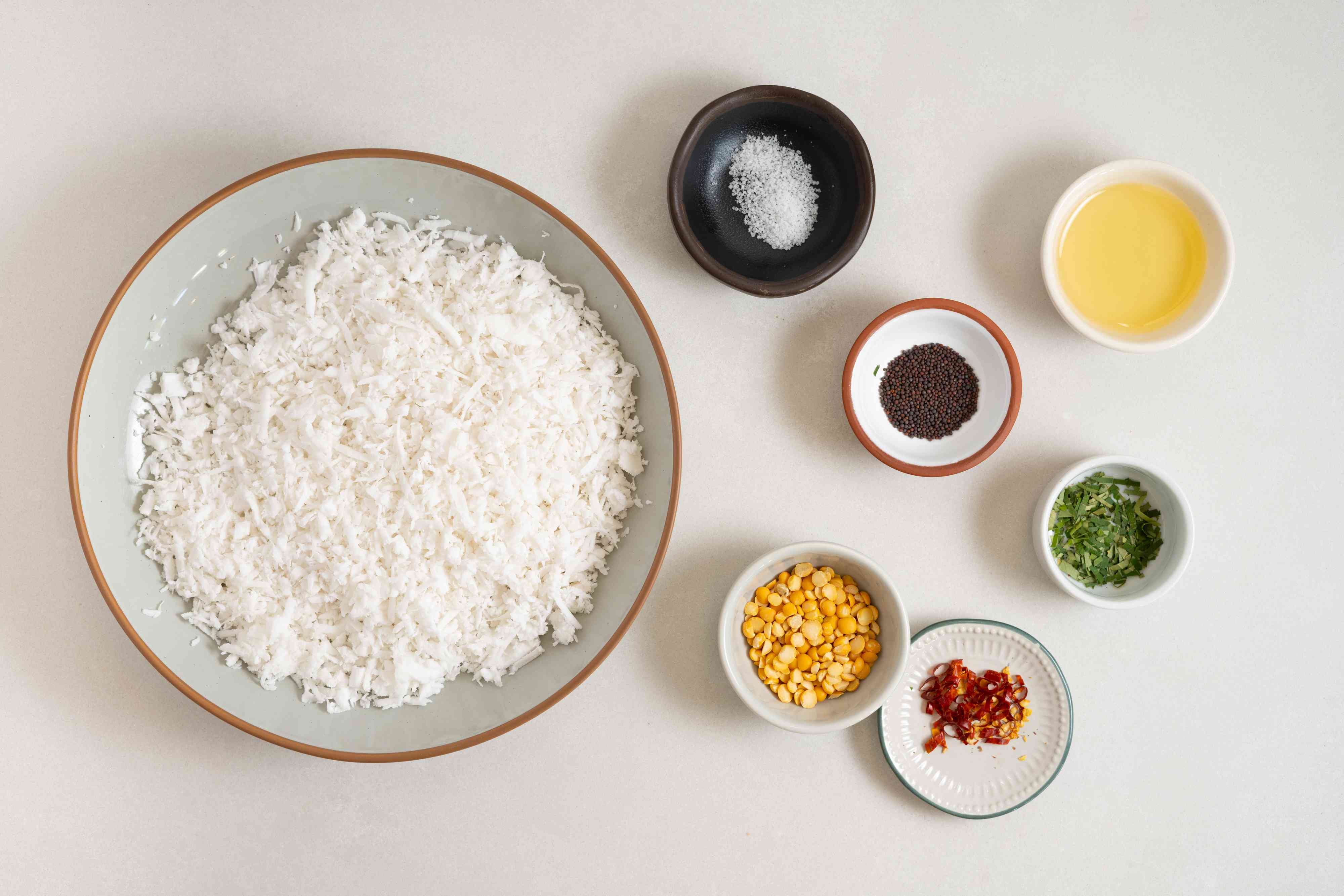 South Indian Coconut Chutney ingredients
