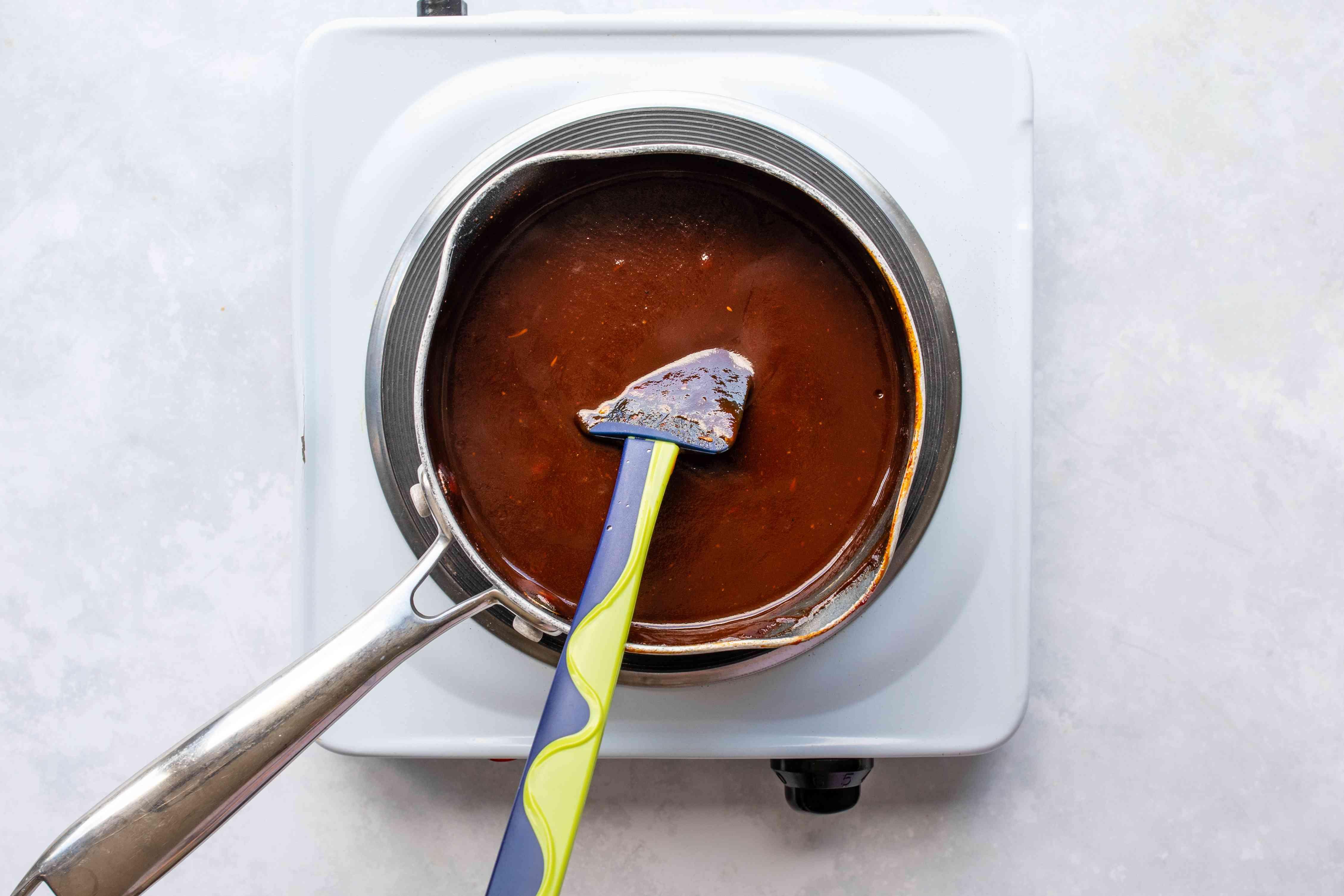 Reduce heat to medium low