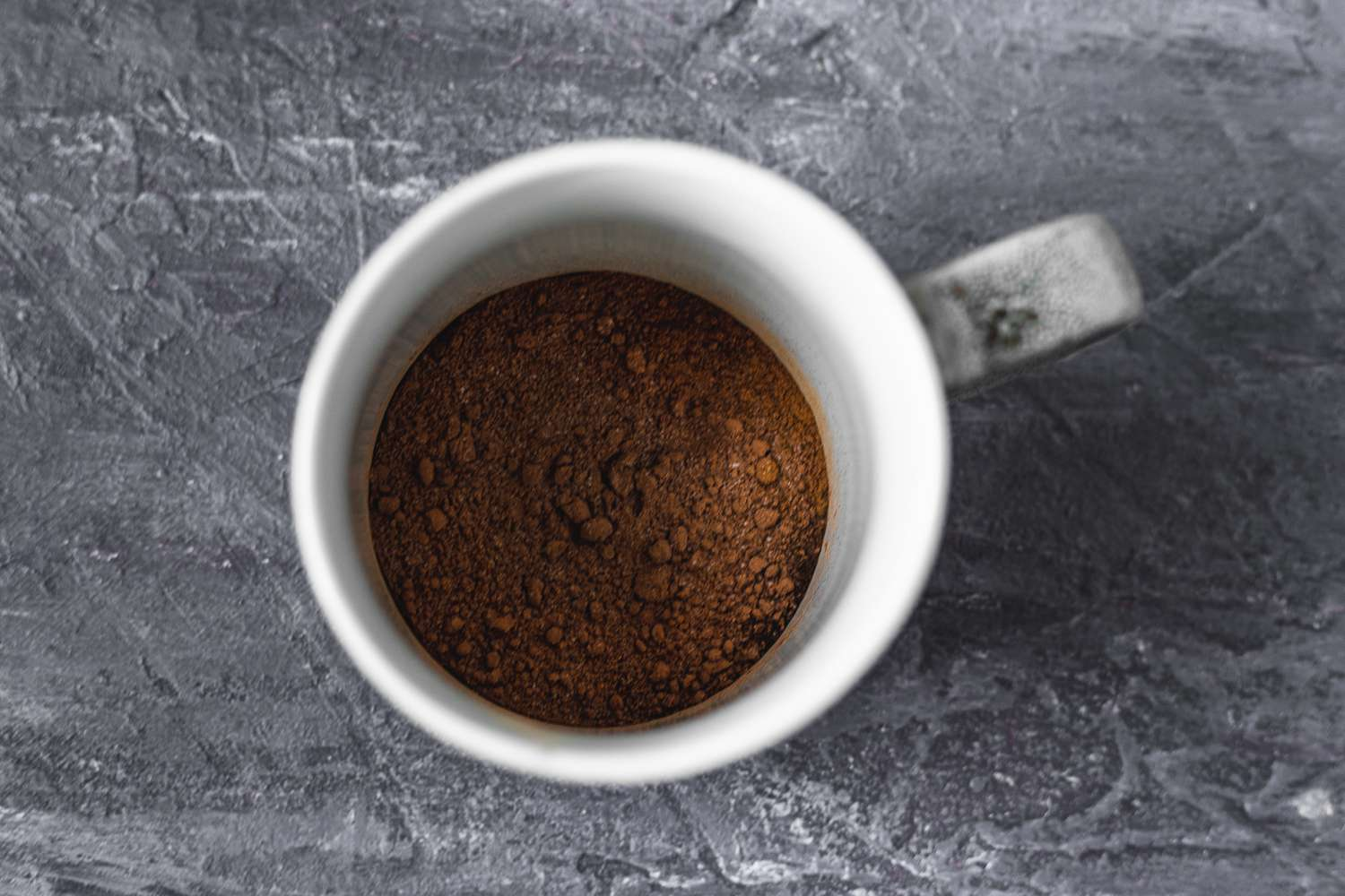cocoa and instant coffee mixed together in a mug