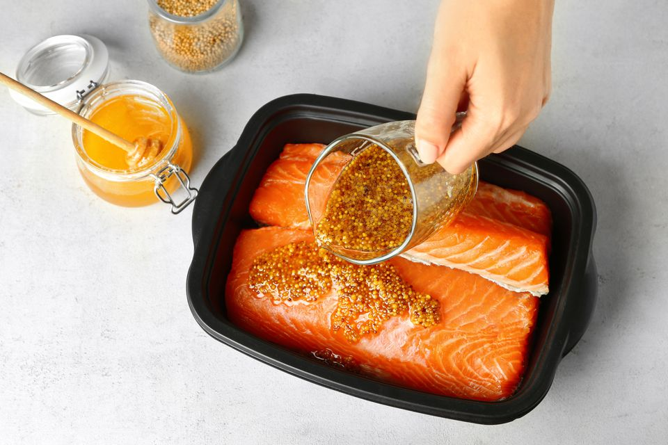honey and mustard salmon