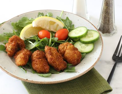 Fried oysters Southern-style