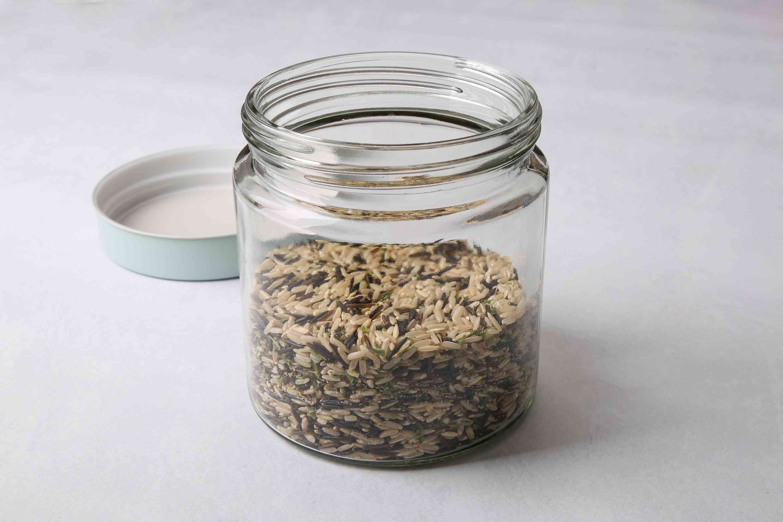 Long Grain Wild Rice Mix in a jar