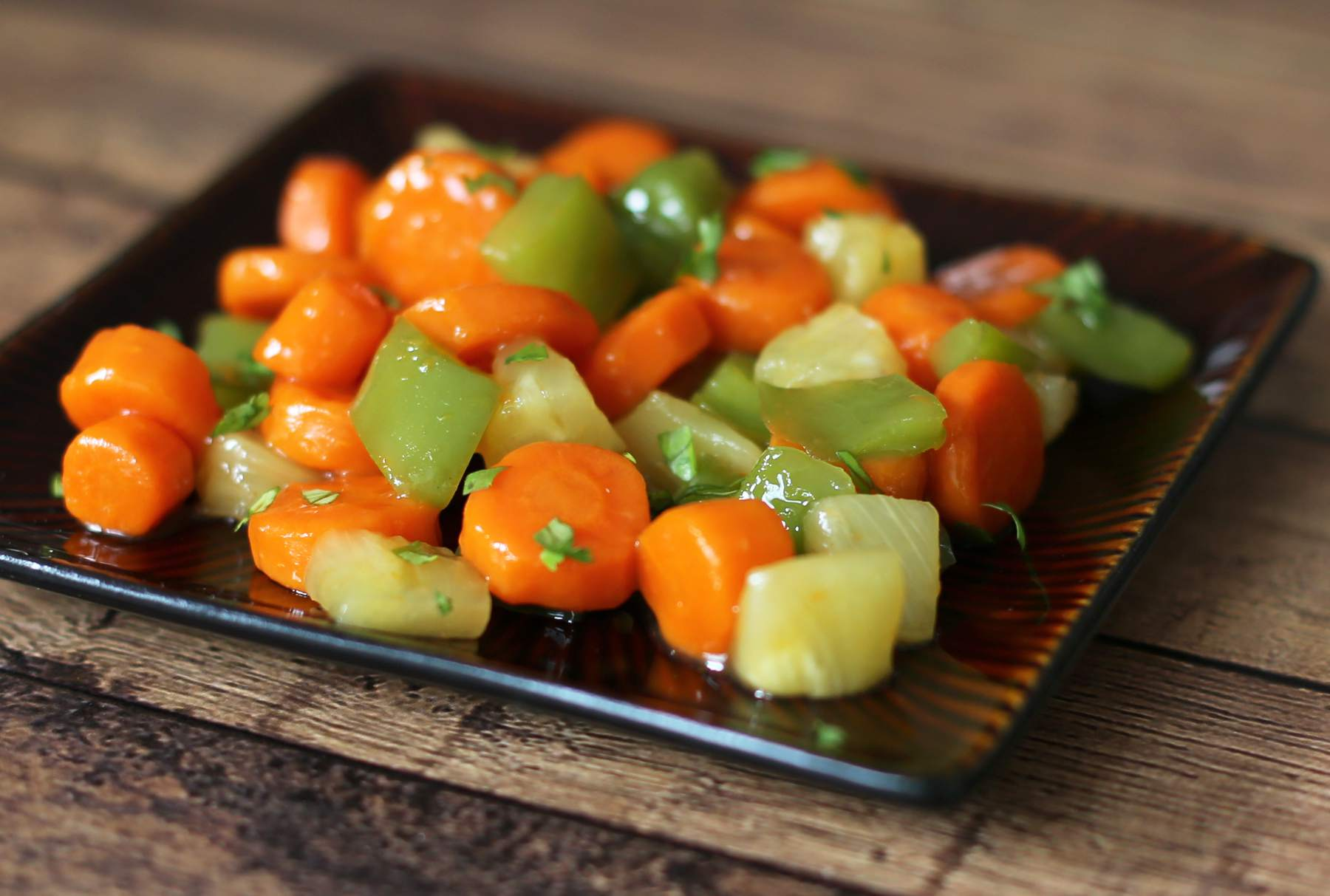 Sweet and Sour Carrots and Pineapple