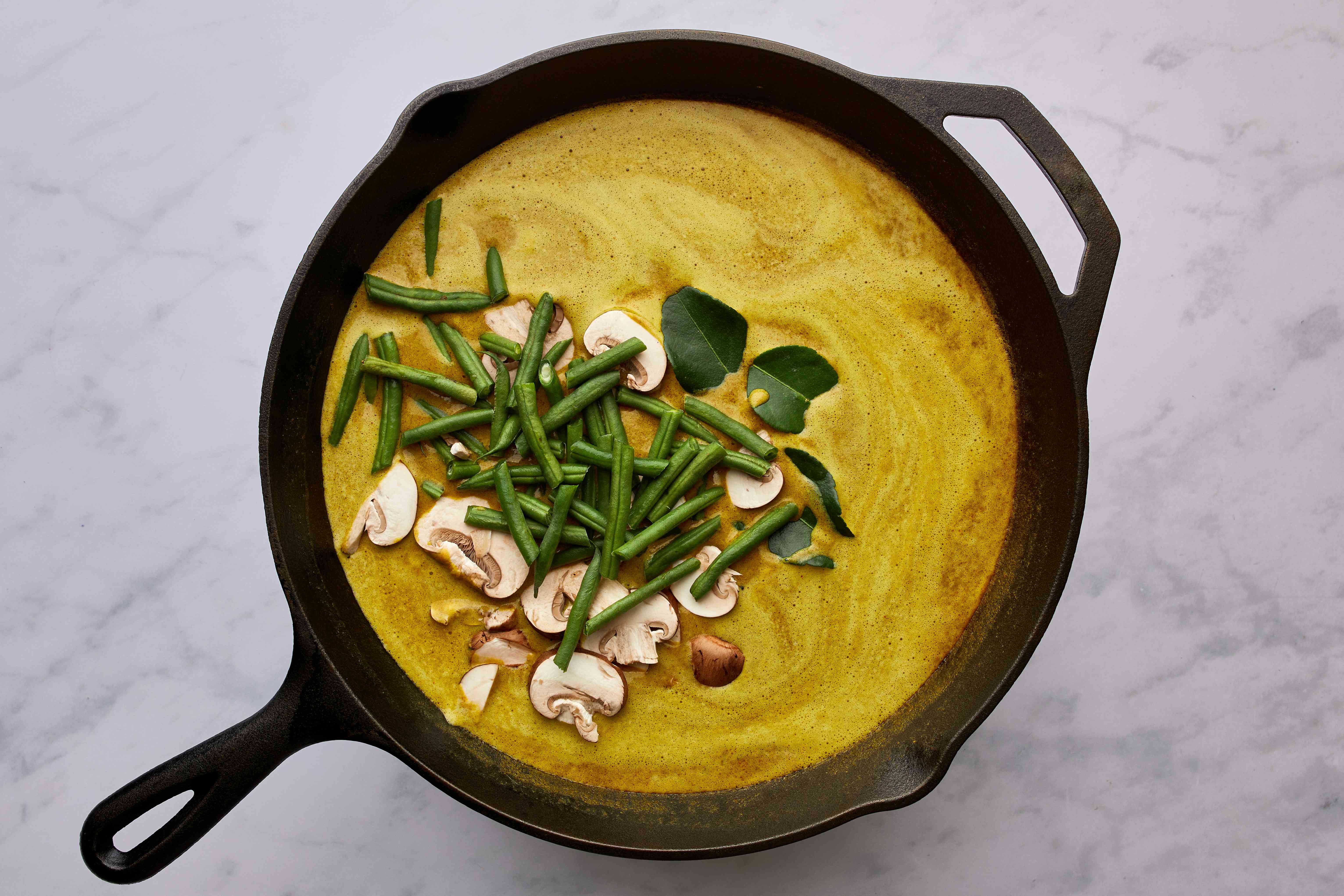 curry sauce with vegetables in a pan