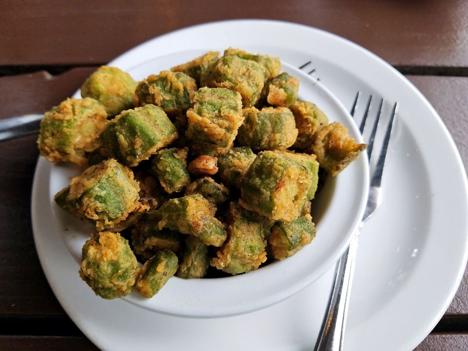 Bowl of Fried Okra