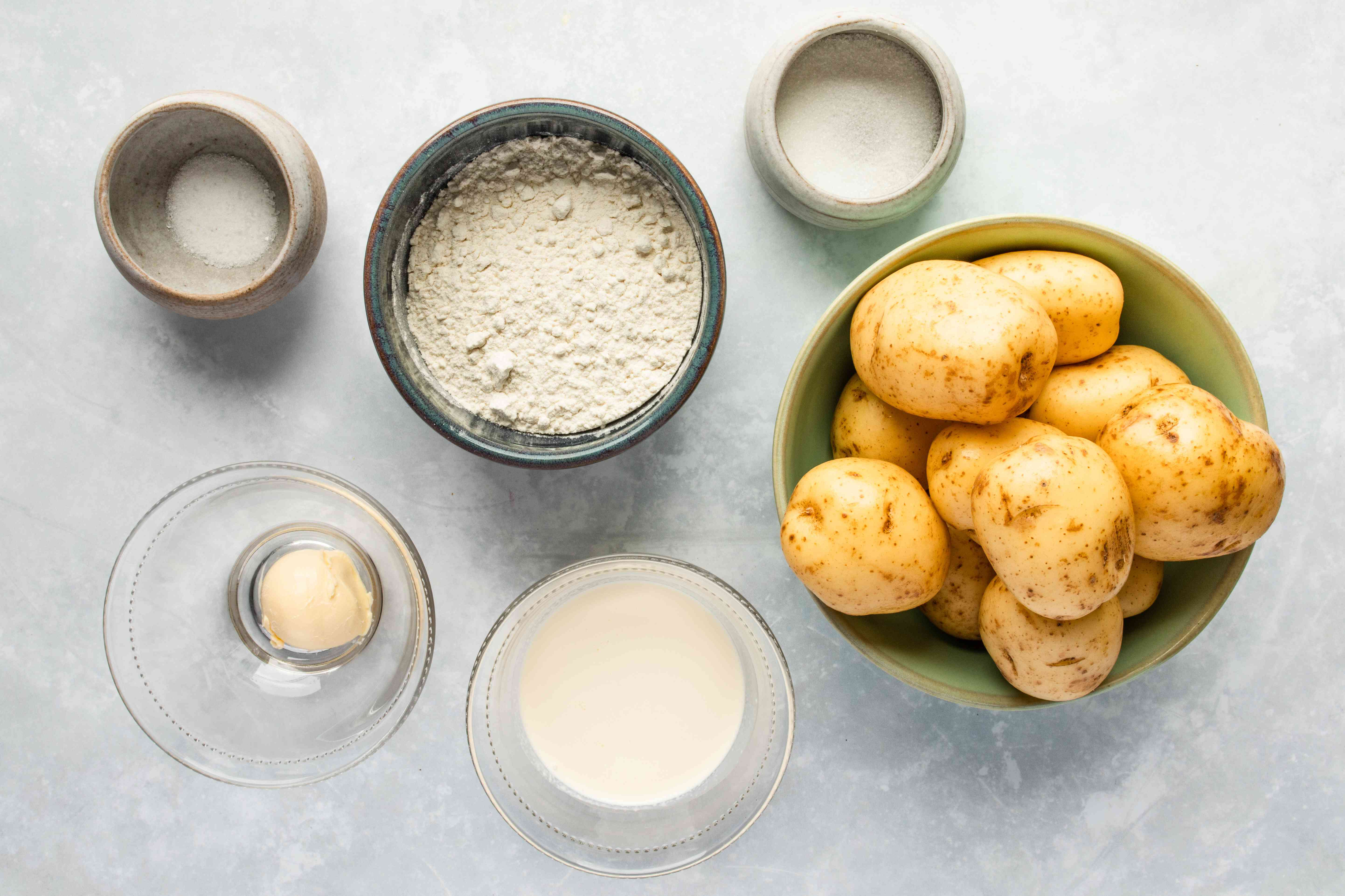 Ingredients for basic lefse