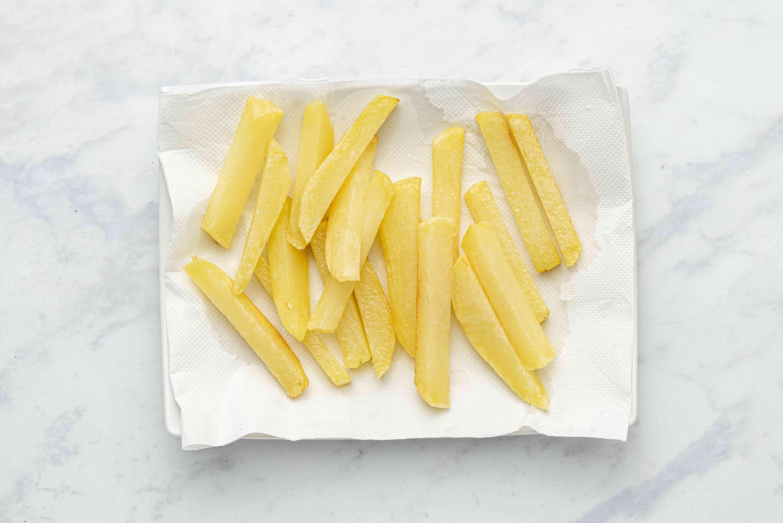 potatoes on paper towels