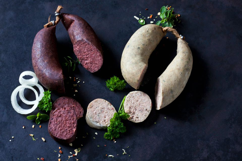 Traditional blood and liver sausages