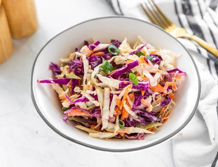 Cole slaw salad with purple cabbage recipe