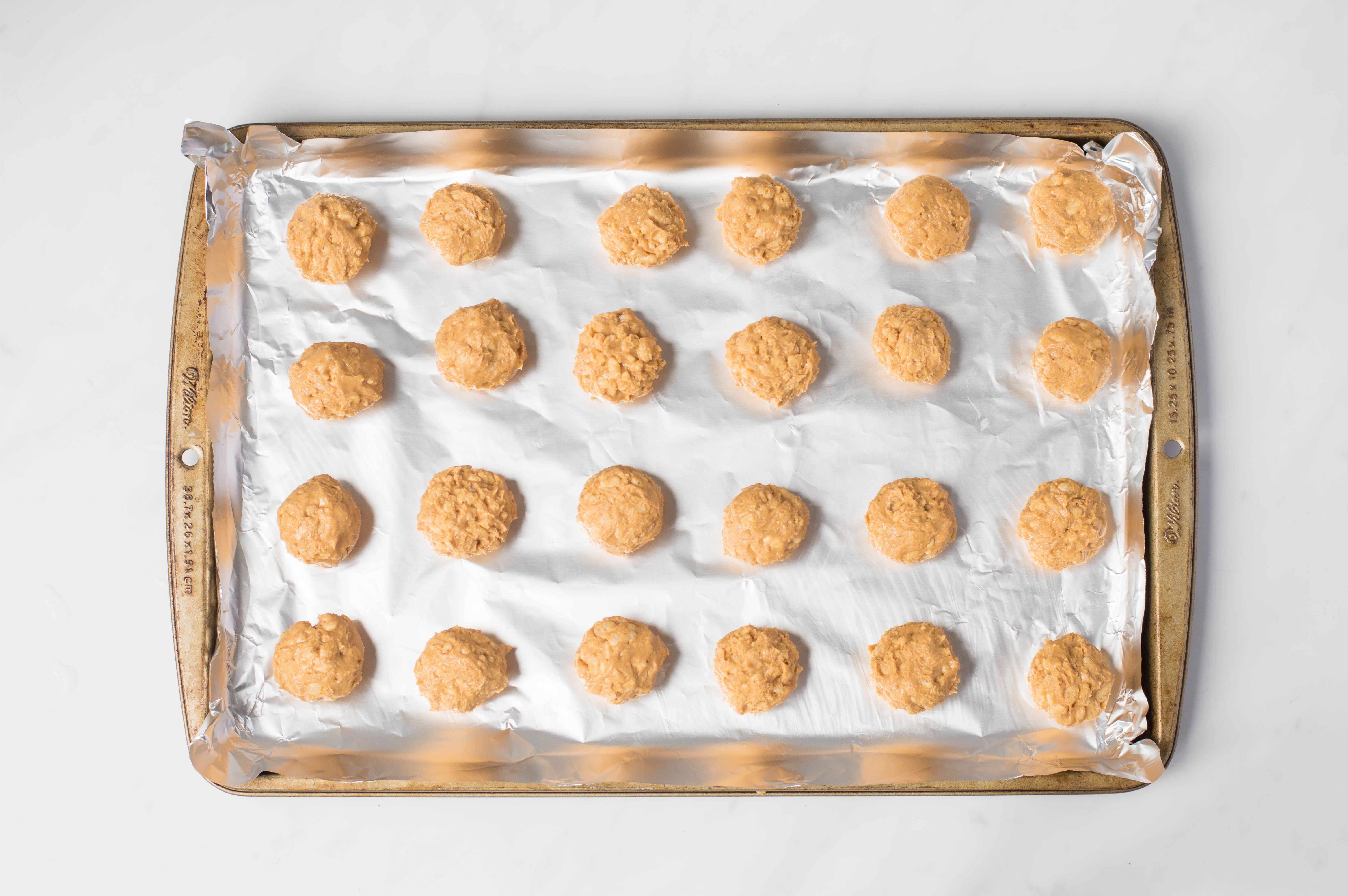 Place balls on baking sheet