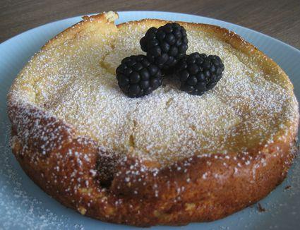 Baked ricotta pudding cake