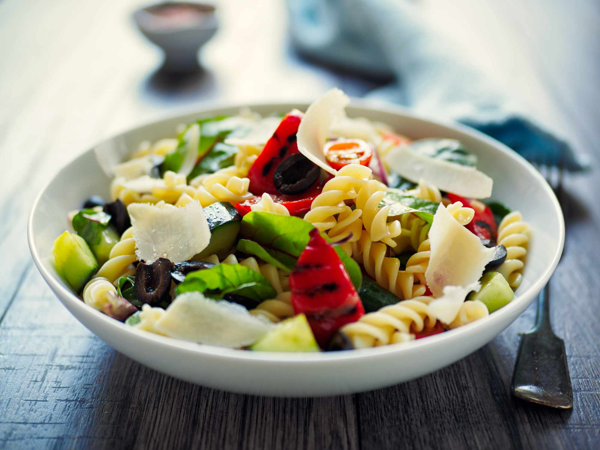 Pasta Salad in white bowl