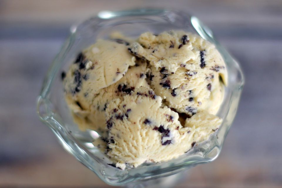 Homemade Chocolate Chip Ice Cream (stracciatella)