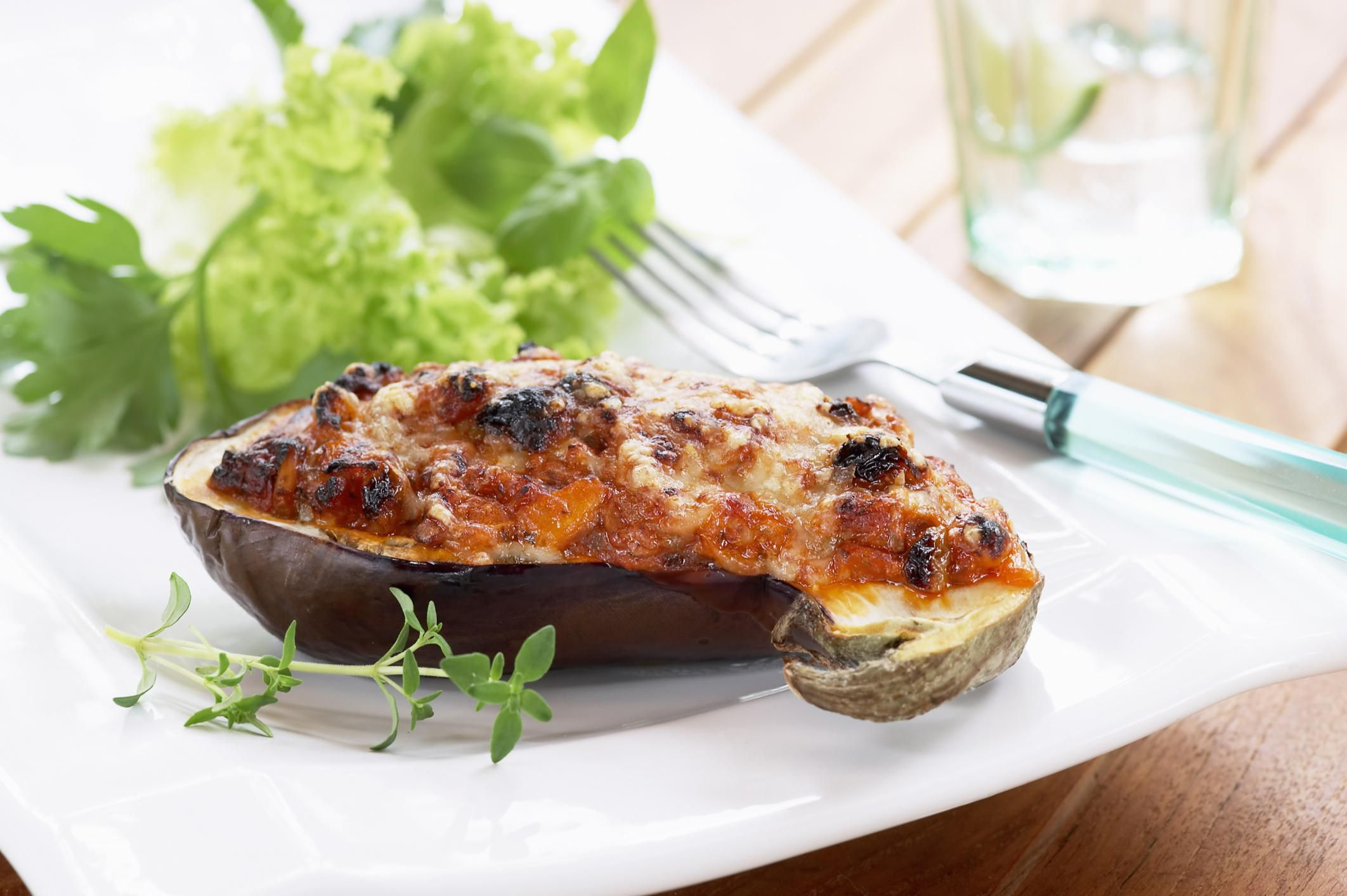 Baked Eggplant with Feta Cheese Recipe