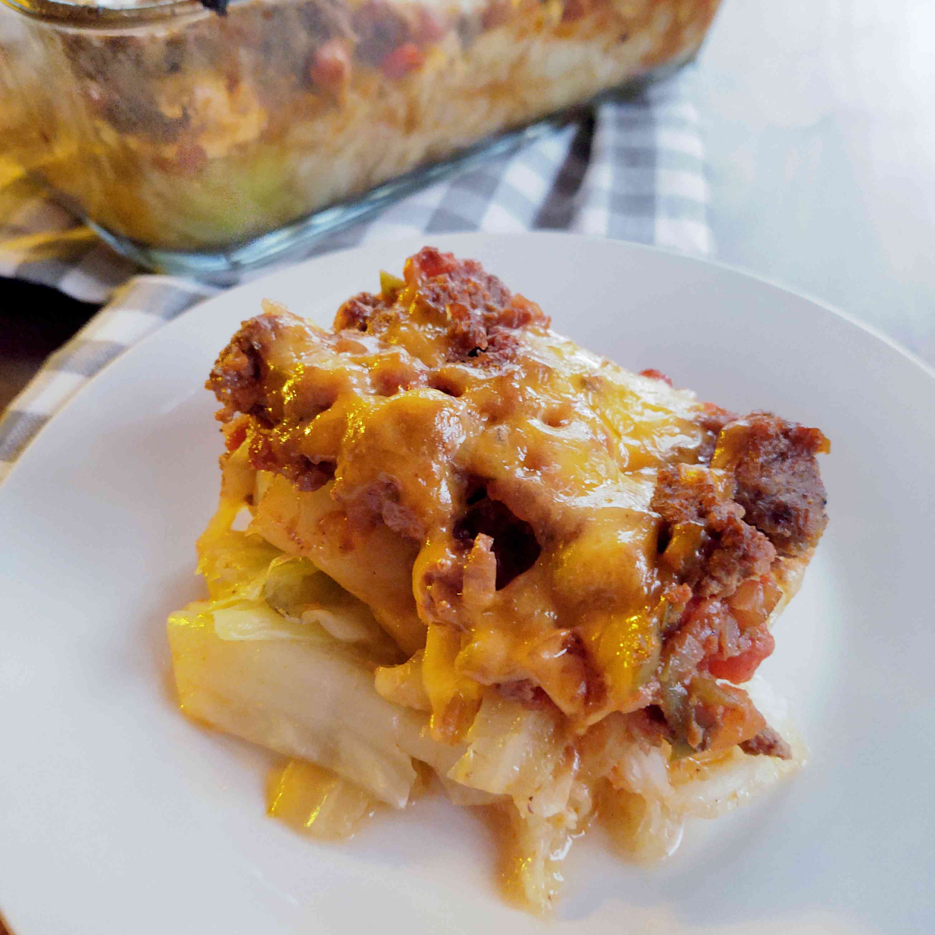 Ground Beef and Cabbage Casserole Tester Image