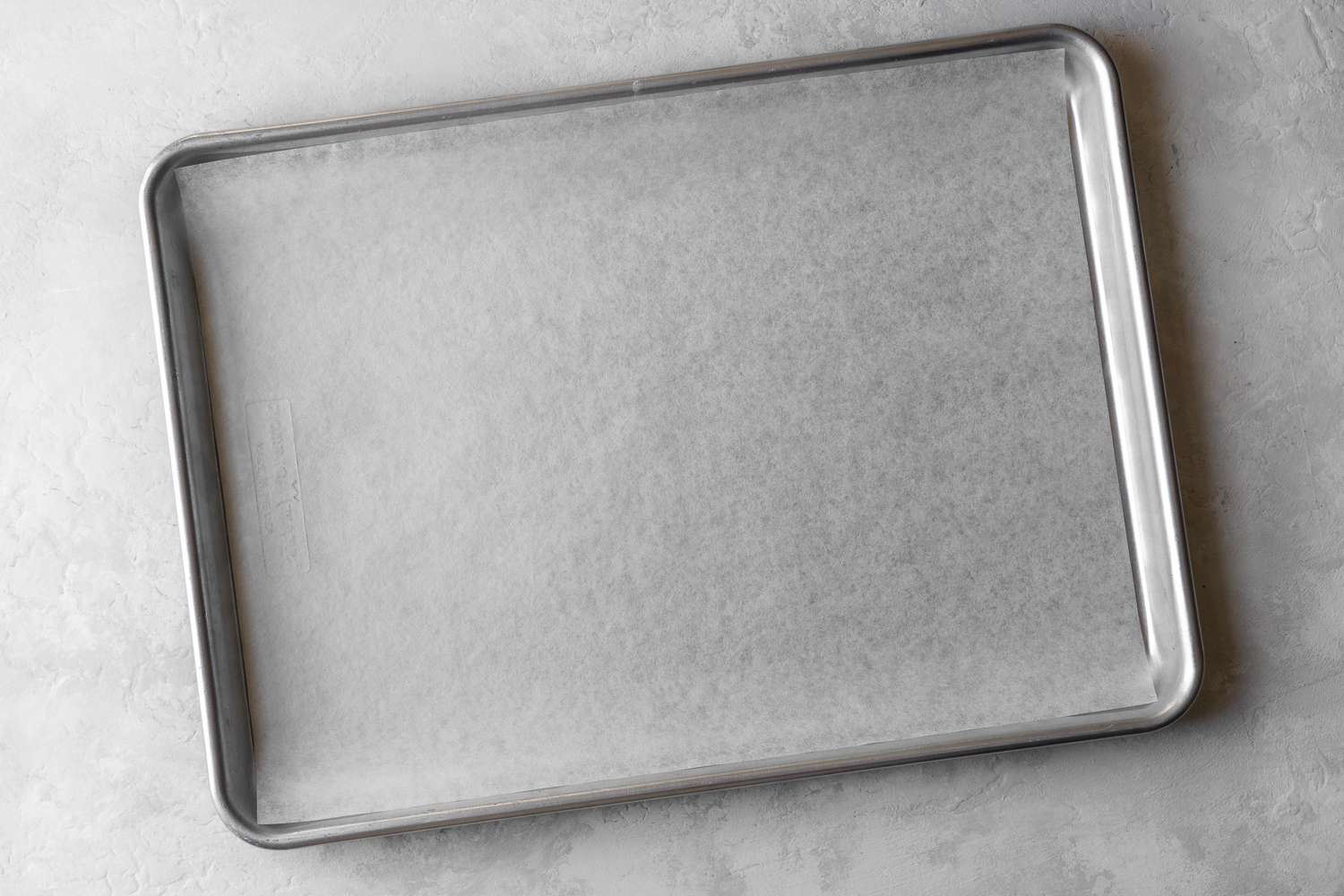parchment paper lined baking sheet
