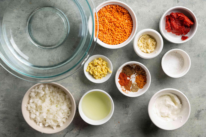Spicy Vegan Lentil Dahl ingredients
