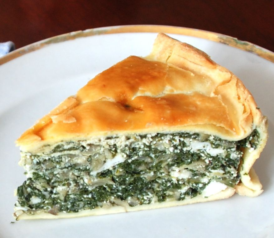 Torta pascualina (spinach and ricotta tart)