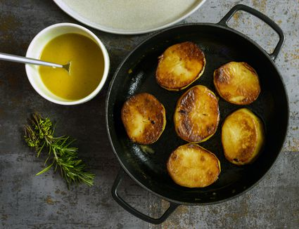 Fondant Potatoes finished