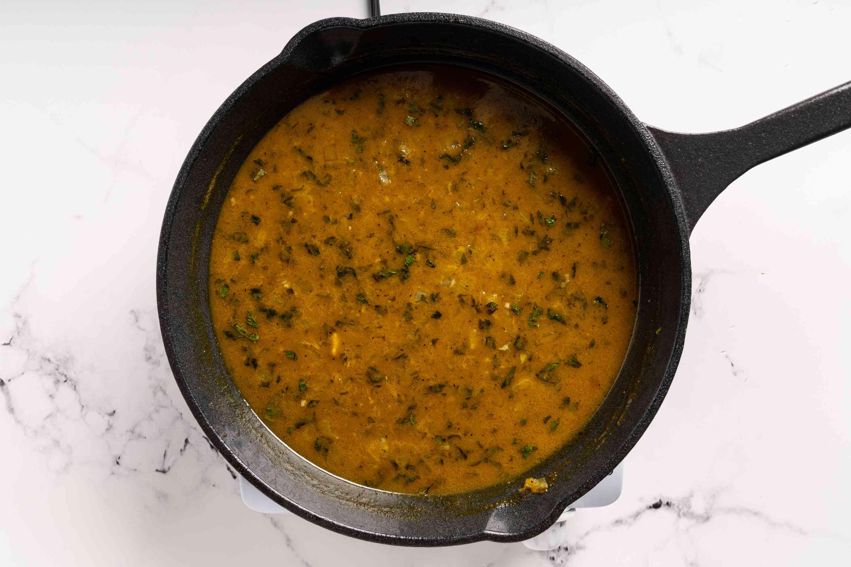 marinade in a pan