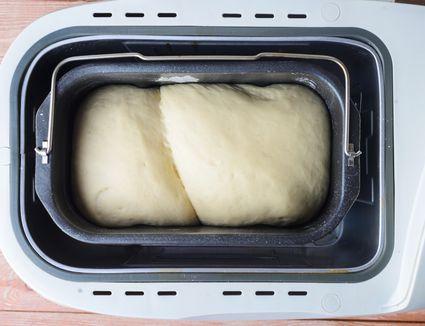 Add dough to bread machine