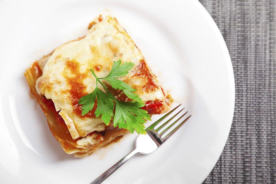 Lasaña con mozzarella (lasaña de mozzarella)