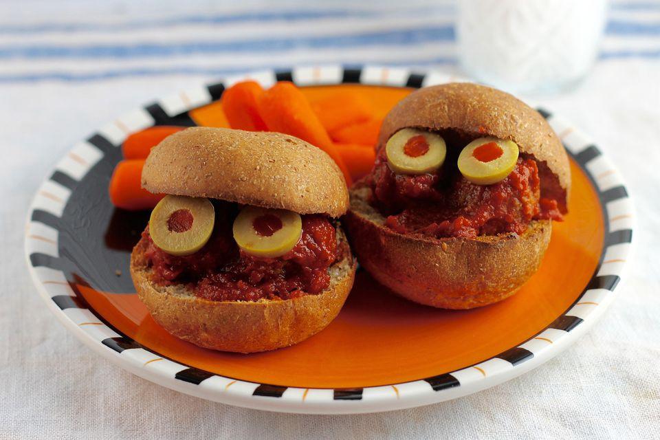 Meatball Monster Sandwiches