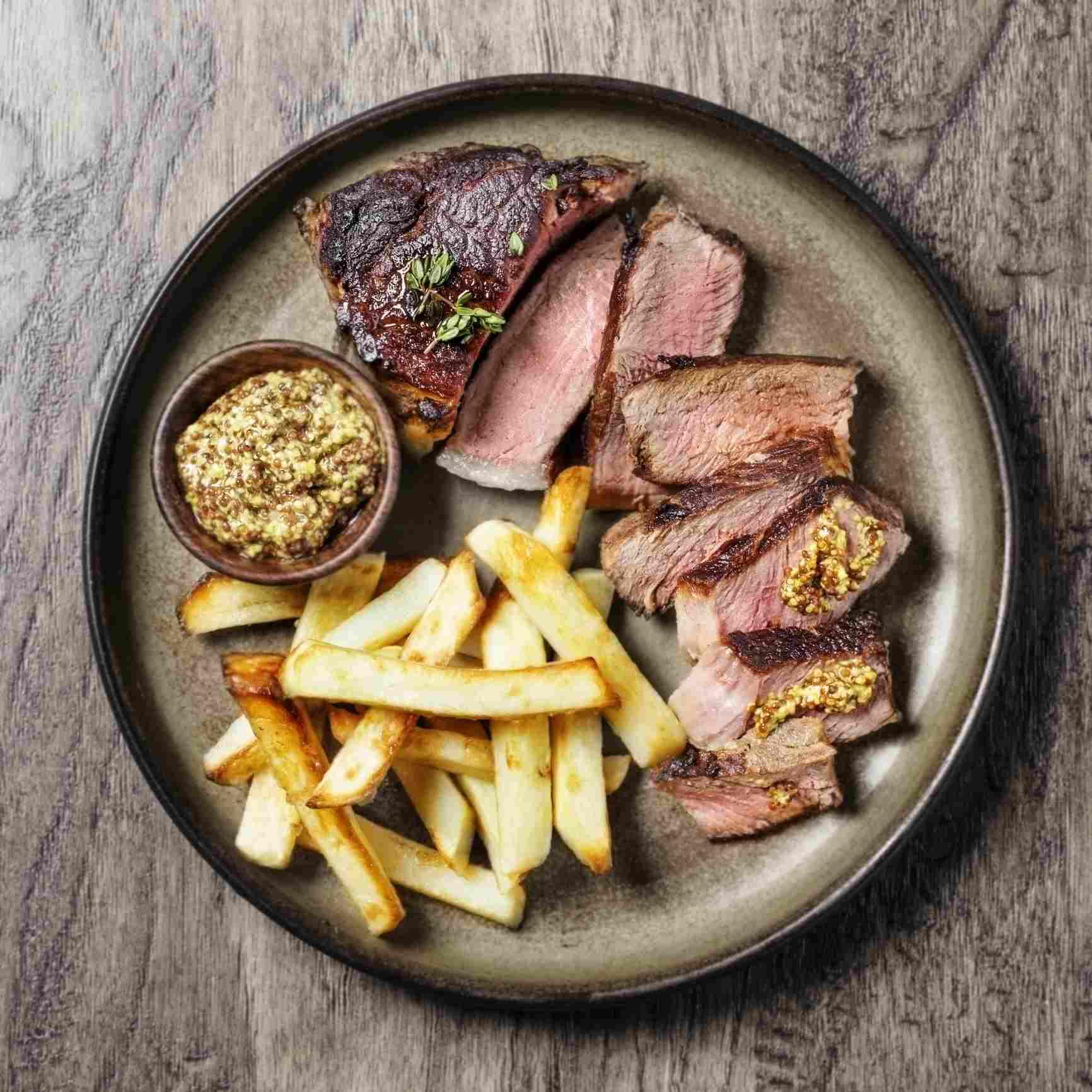 Steak mustard aioli