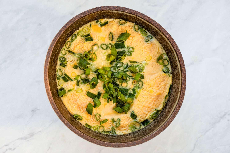 Korean Steamed Egg (Gaeran Jim) in a bowl