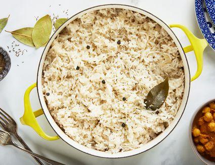 Easy vegan basmati rice recipe in a pot