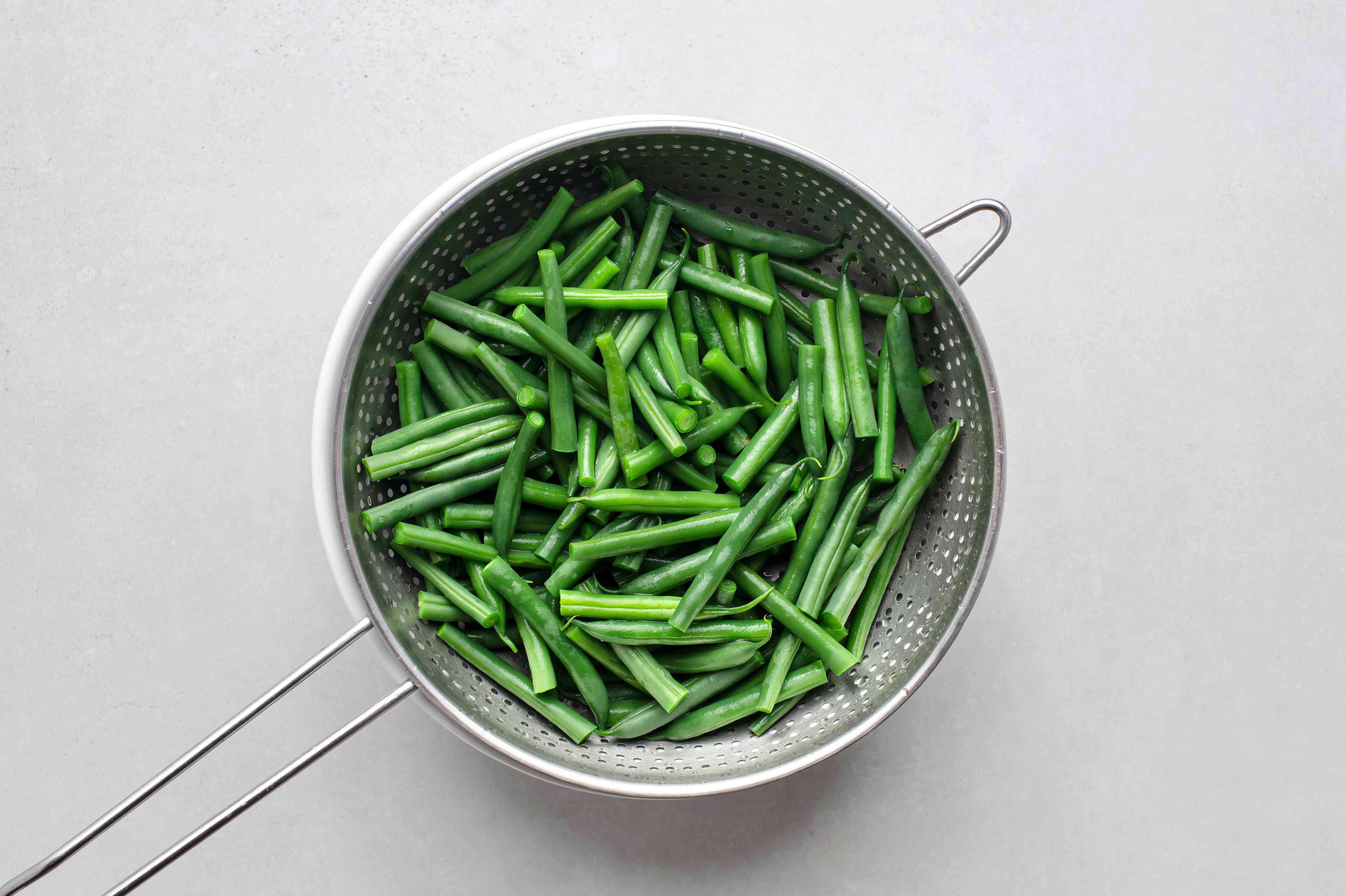 Cook fresh-cut beans