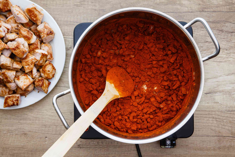 Add chile powder