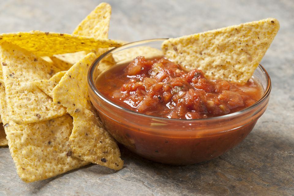 Chips and a bowl of salsa