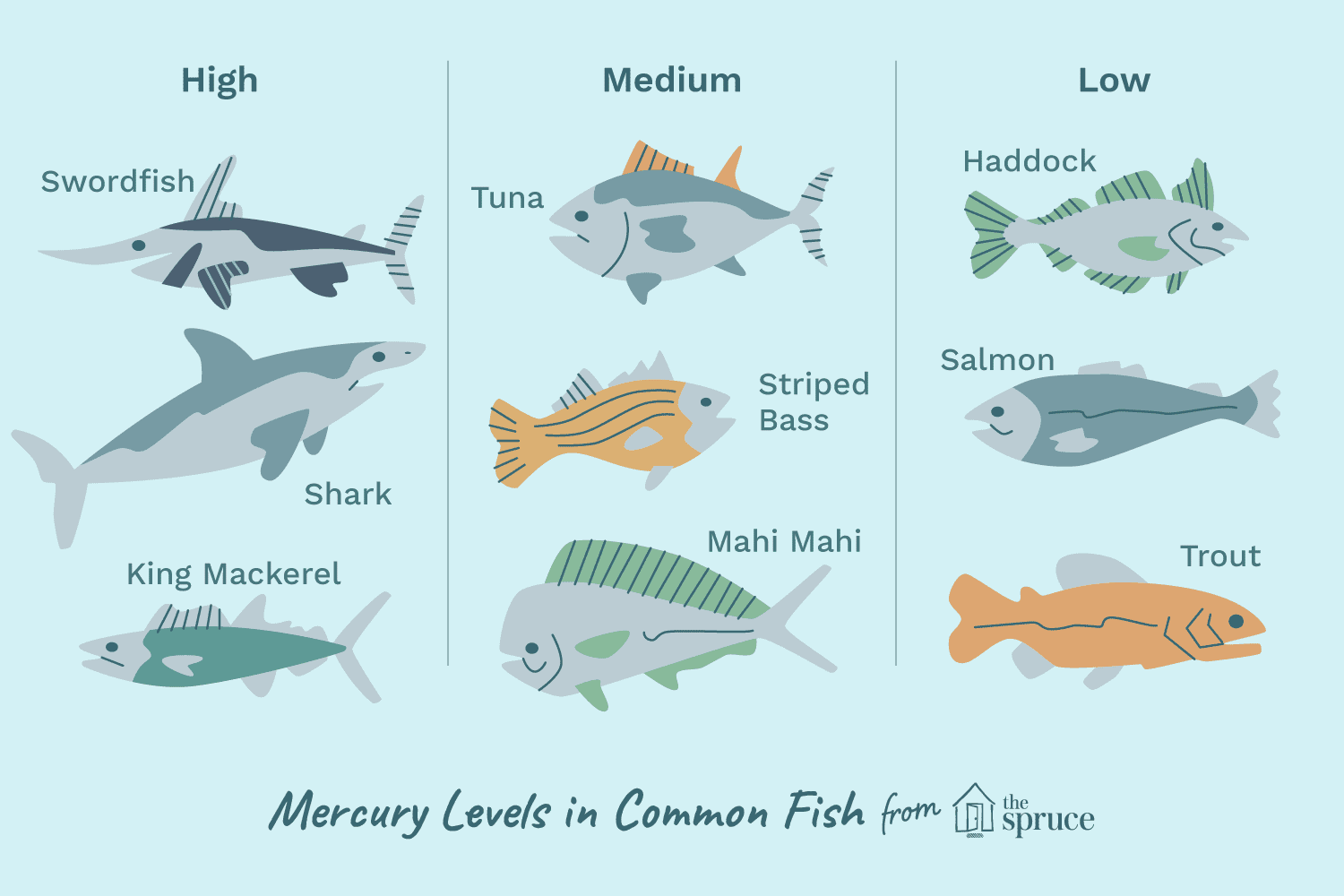 list of mercury levels in fish