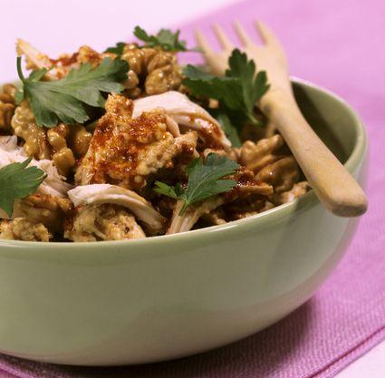 Circassian chicken (chicken with walnut paste)