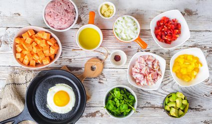 Turkey bacon and egg skillet ingredients