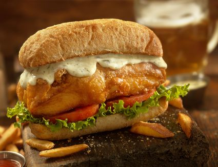 fish sandwich with Creole mayo