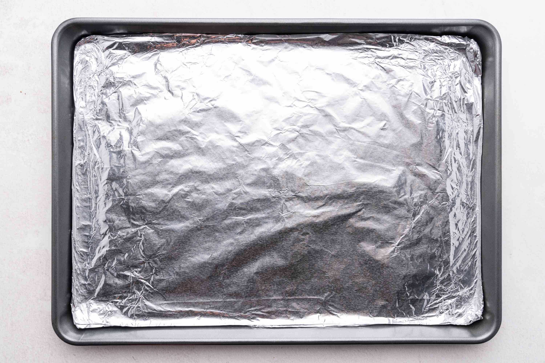 aluminum foil lined baking sheet