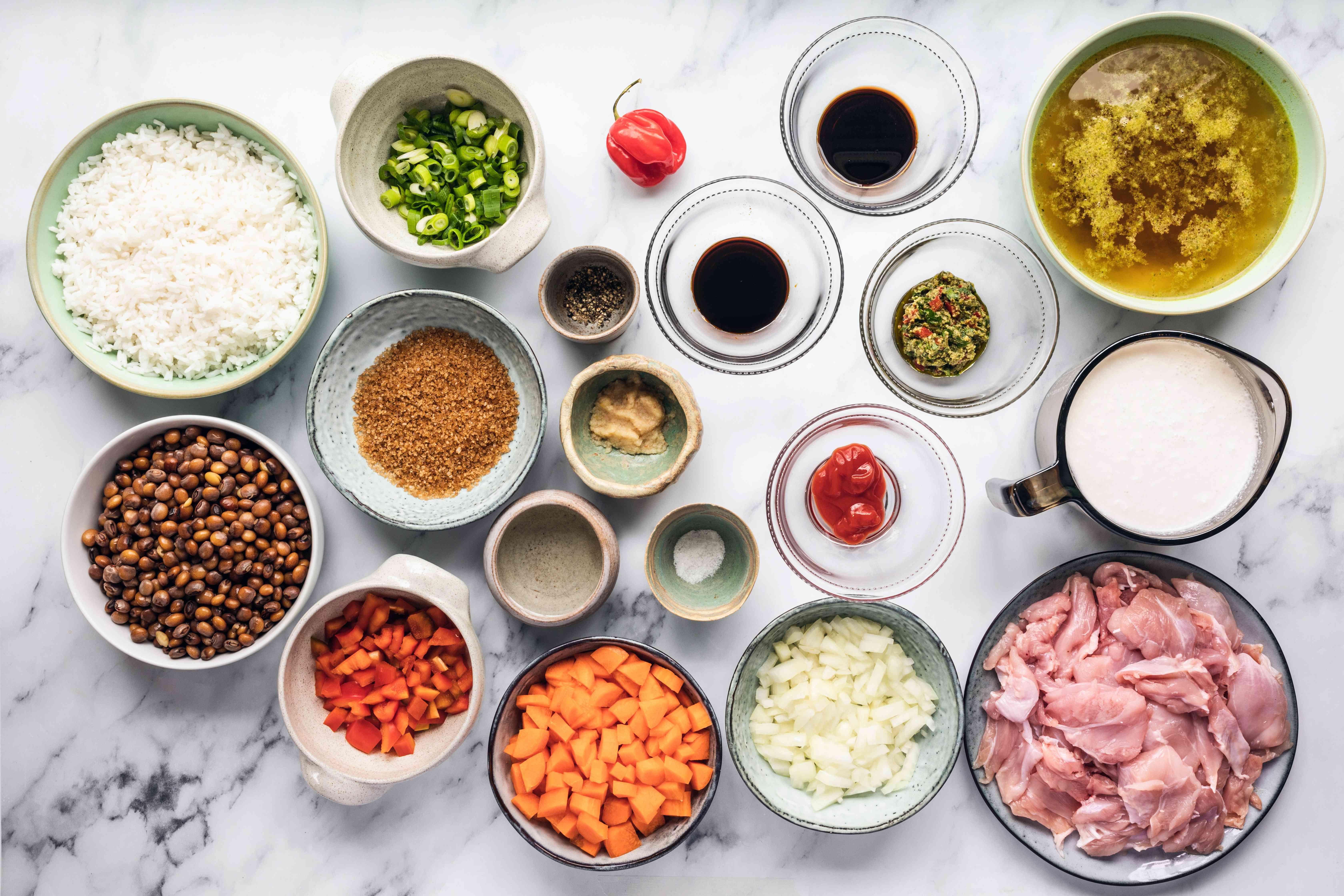 Trini pelau ingredients