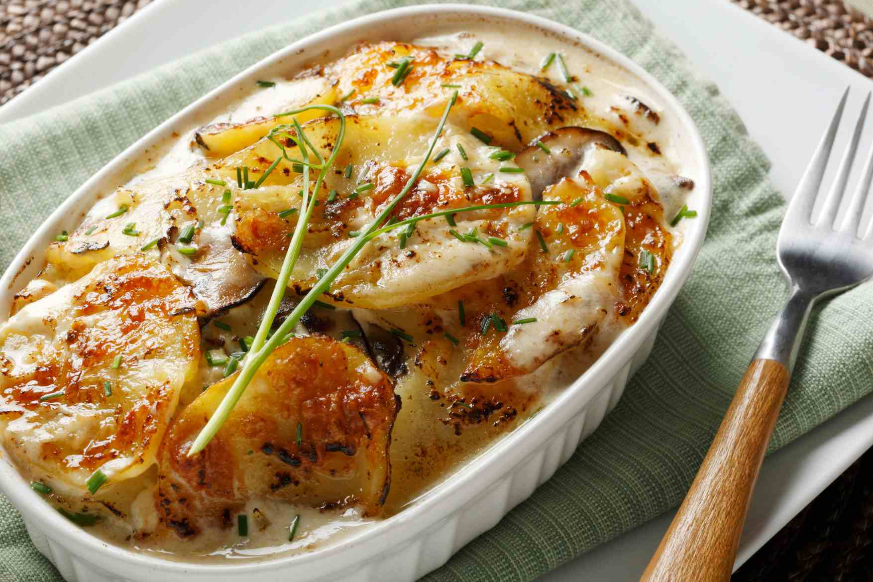 Spicy scalloped potatoes