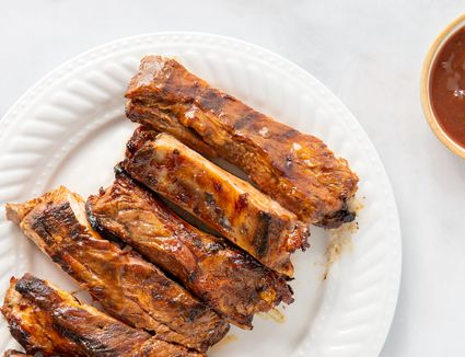 Marinated Grilled Spareribs With Homemade Barbecue Sauce