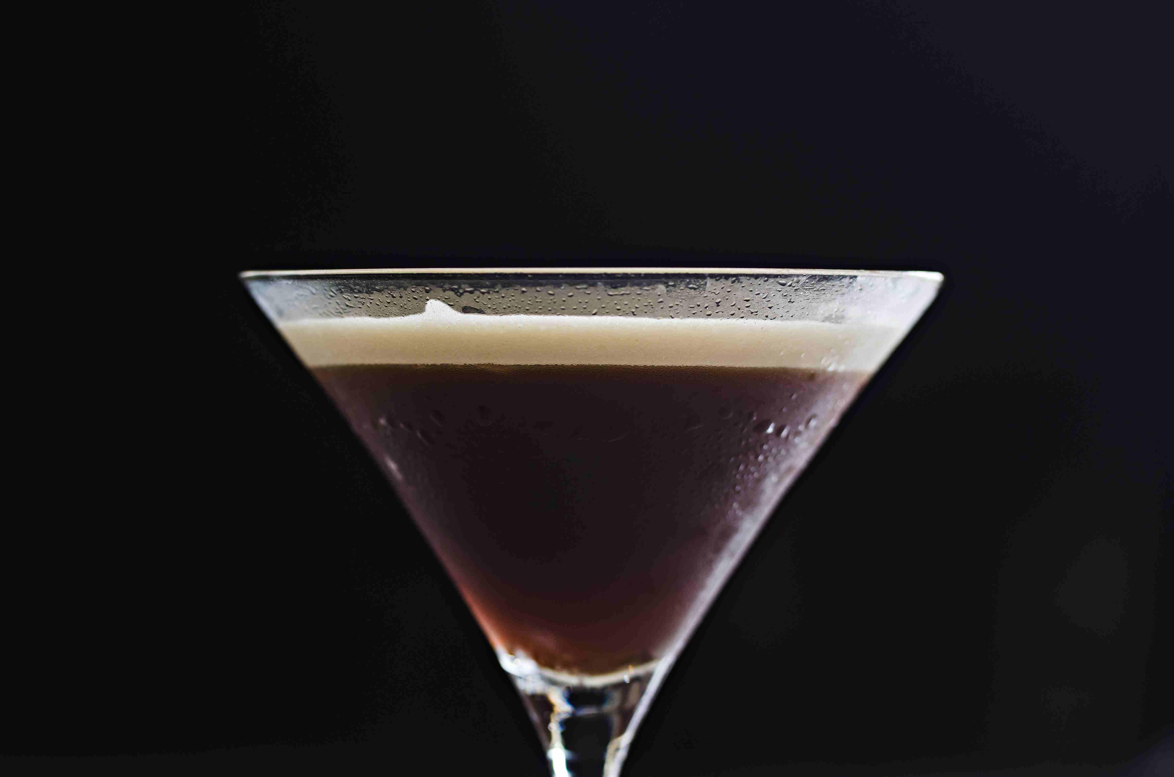 Coffee Martini on a Black Background
